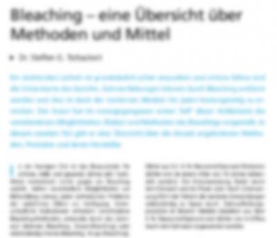 Bleaching – eine Übersicht über Methoden und Mittel
