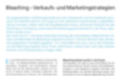Bleaching – Verkaufs- und Marketingstrategien